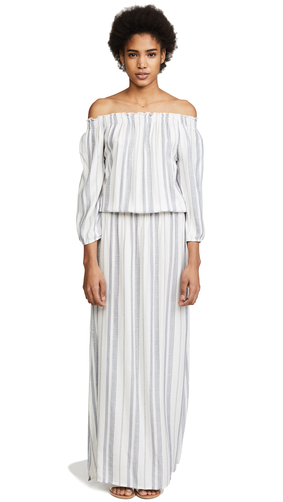 Melissa Odabash Amber Dress - Cream Stripe