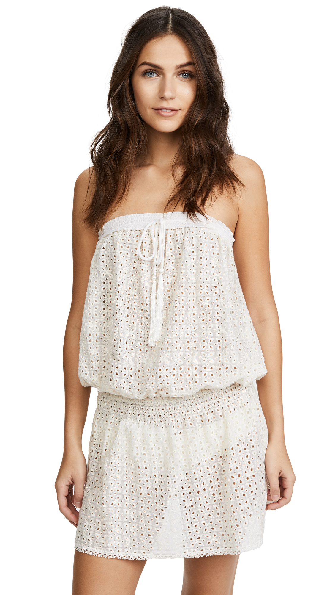 Melissa Odabash Adela Strapless Cover Up Dress - Cream