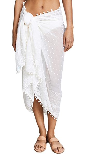 Melissa Odabash Embroidered Pareo In Cream