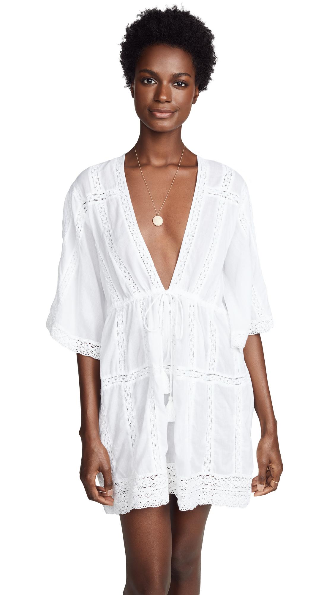 MELISSA ODABASH Jade Cotton Voile Minidress in White