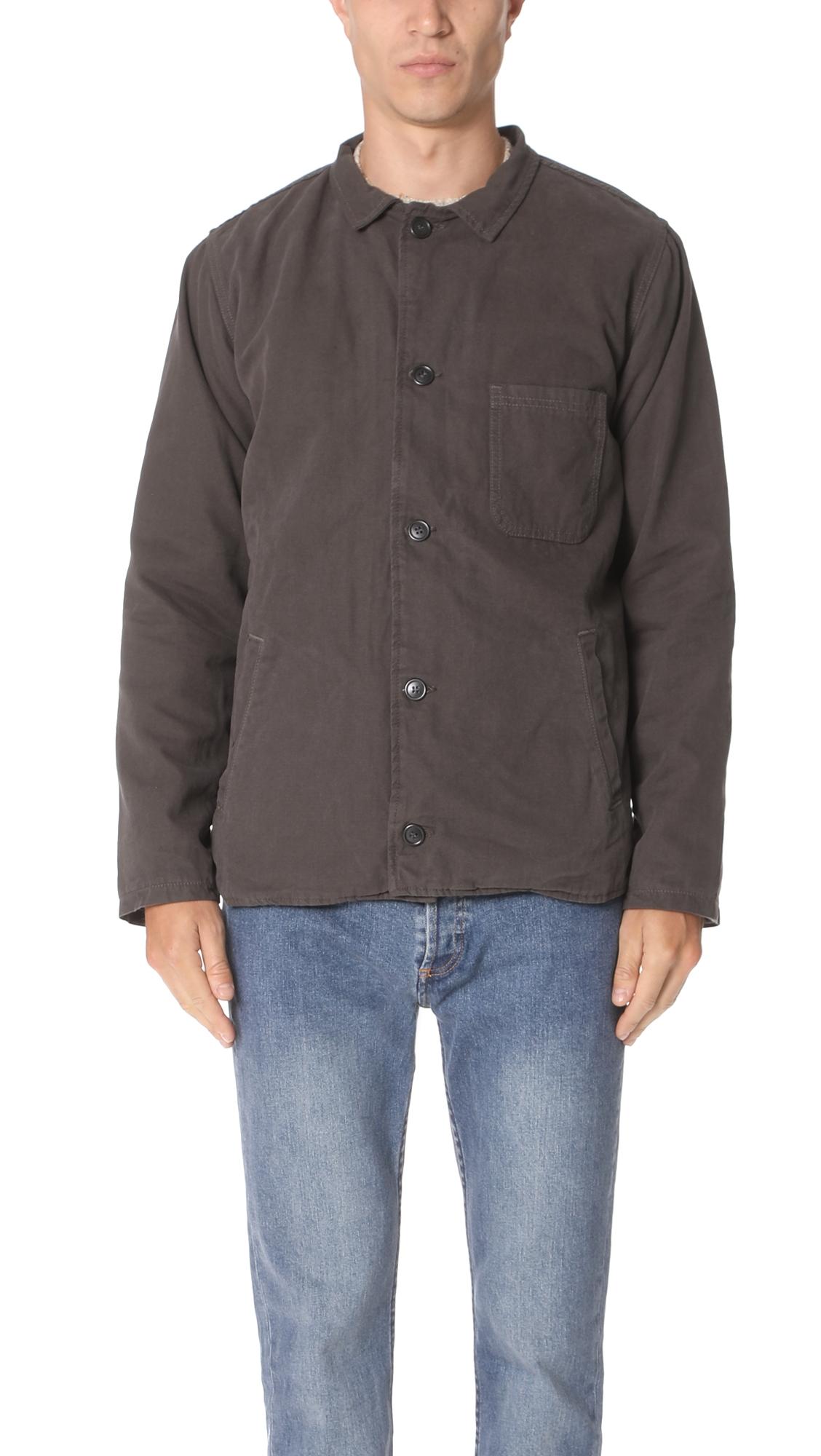 MOLLUSK Fall Deck Jacket in Faded Black