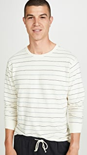Mollusk Long Sleeve Hemp Crew Neck Sweatshirt