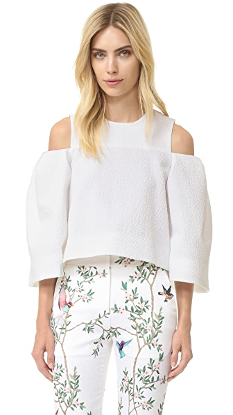 Monique Lhuillier Open Shoulder Top