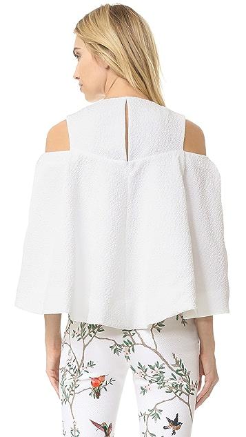 Monique Lhuillier Open Shoulder Top