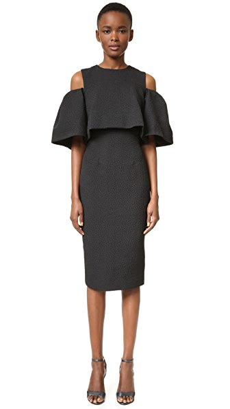 Monique Lhuillier Open Shoulder Dress