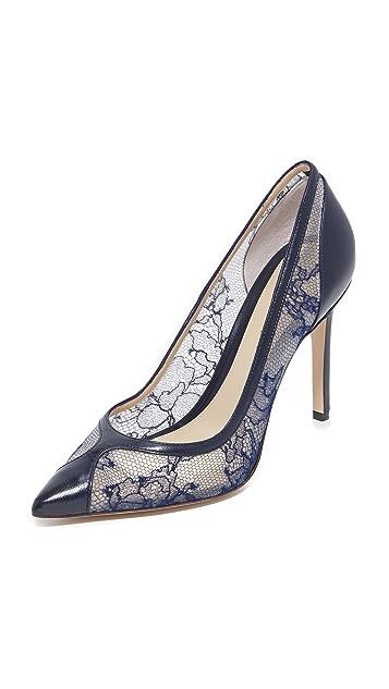 Monique Lhuillier Кружевные туфли-лодочки Fatima