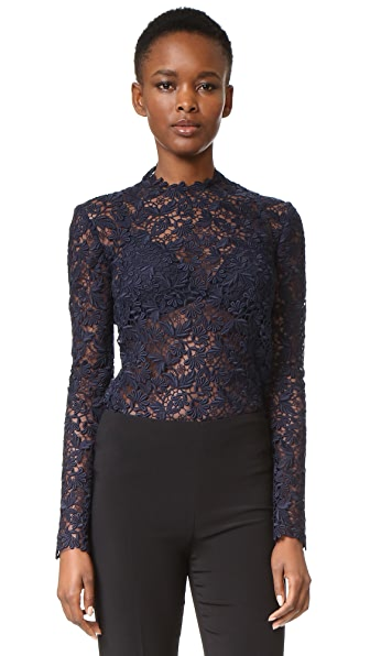 Monique Lhuillier Long Sleeve Blouse