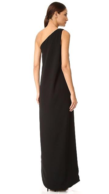Monique Lhuillier One Shoulder Gown with Mini Dress
