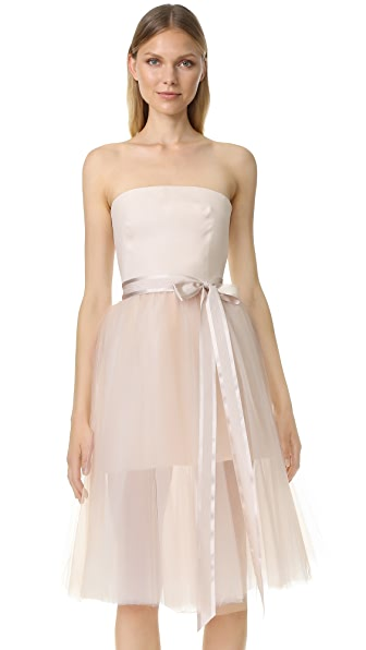 Monique Lhuillier Ballerina Cocktail Dress - Blush