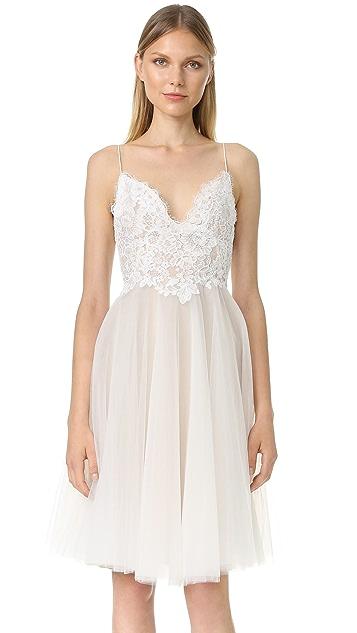 Monique Lhuillier Kylie V Neck Dress