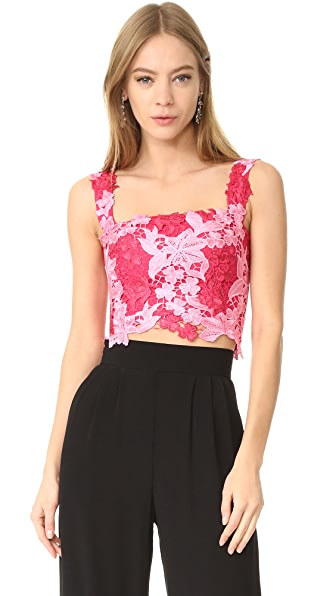 Monique Lhuillier Lace Crop Top