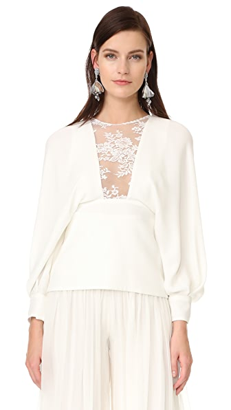 Monique Lhuillier Long Sleeve Top