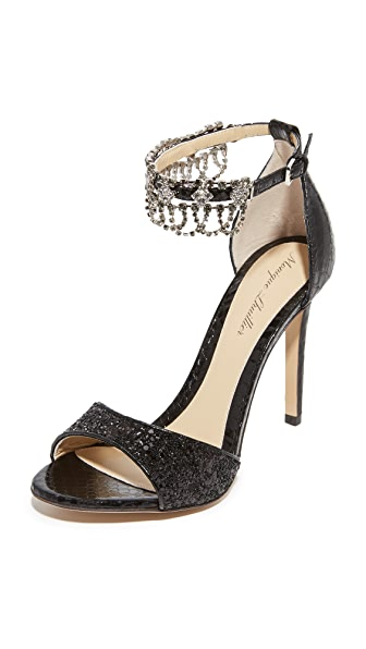 Monique Lhuillier Evelyn Ankle Strap Sandals - Noir