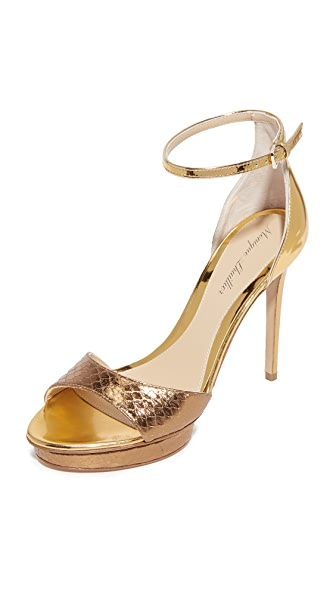 Monique Lhuillier Kiara Ankle Strap Sandals