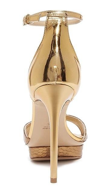 Monique Lhuillier Kiara Ankle Strap Sandals
