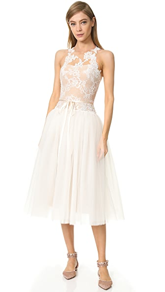 Monique Lhuillier Tea Length Gown