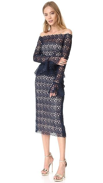 Monique Lhuillier Peplum Dress