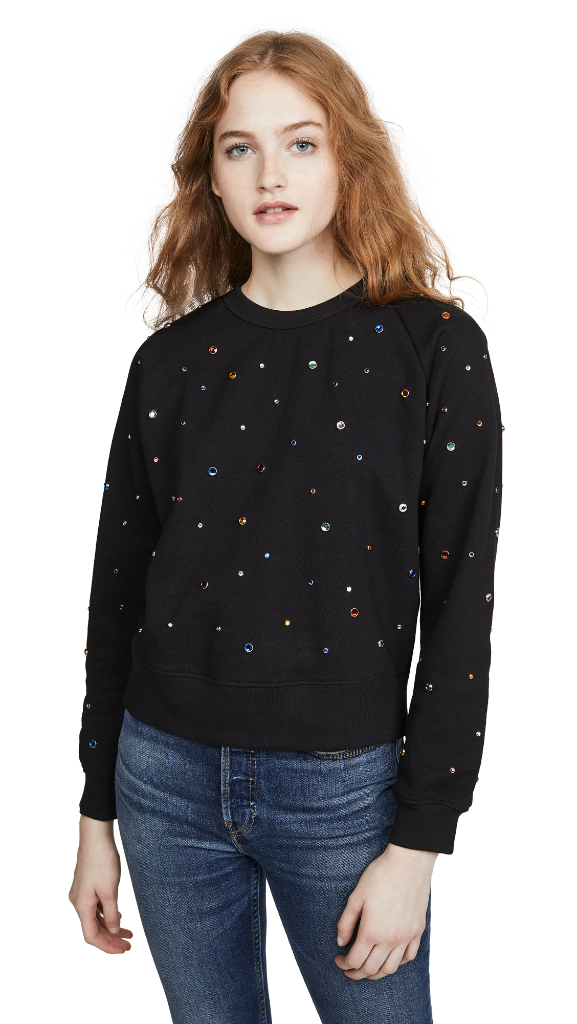 Buy Monogram online - photo of Monogram Rainbow Rhinestone Sweatshirt