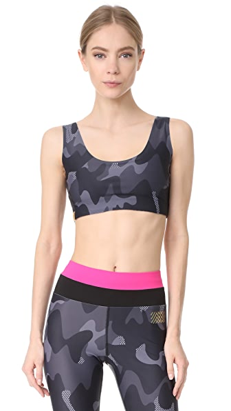 Monreal London Camo Sports Bra - Black Camo