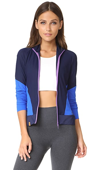 Monreal London Featherweight Zip Jacket In Dark Sapphire