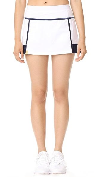 Monreal London Player Skirt In White/Dark Sapphire