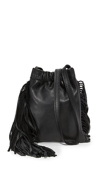 Monserat De Lucca Ano Mini Fringe Cross Body Bag - Black
