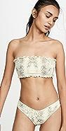 Montce Ruffle Bandeau Bikini Top