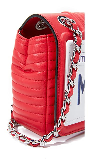 Moschino Moschino License Plate Shoulder Bag