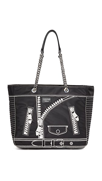 Moschino Leather Tote - Black at Shopbop
