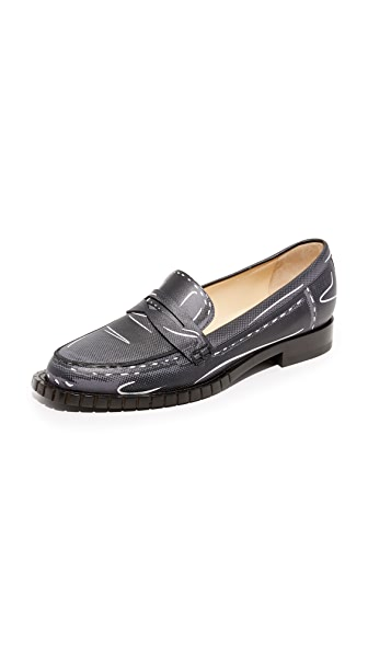 Moschino Penny Loafers - Grey/Black at Shopbop
