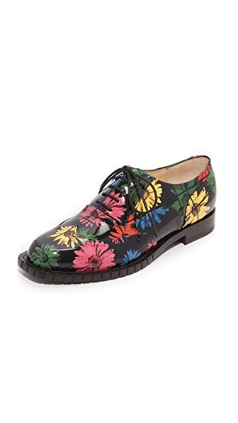 Moschino Printed Oxfords - Black Multi at Shopbop