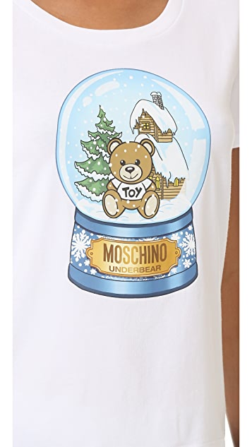 Moschino Snow Globe Bear T-Shirt