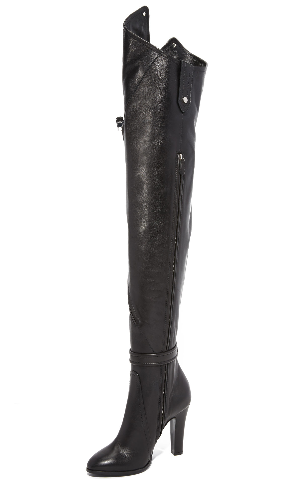 Moschino Over The Knee Boots - Black