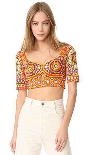 Moschino Printed Crop Top at Shopbop