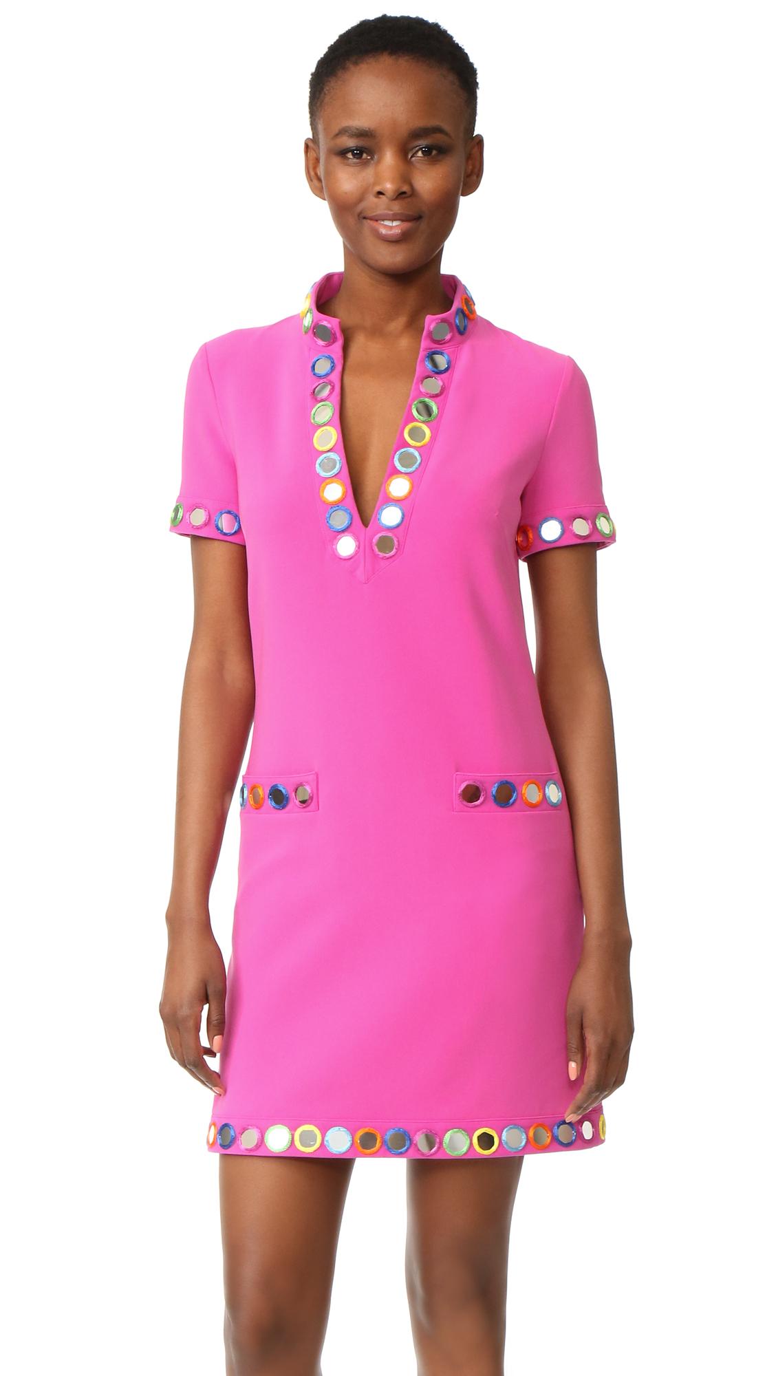 Moschino V Neck Dress - Fantasy Print Violet at Shopbop