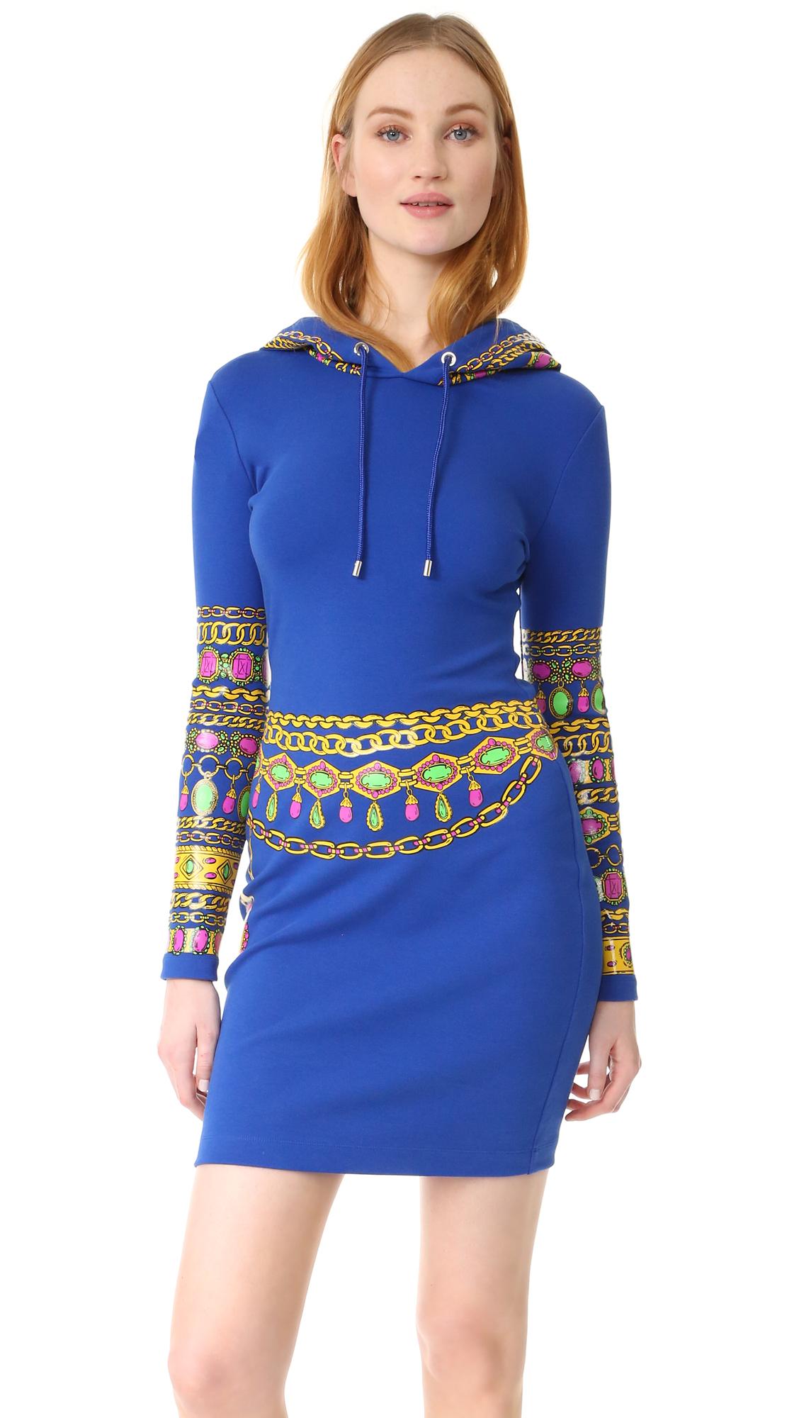 Moschino Hooded Dress - Fantasy Print Blue at Shopbop