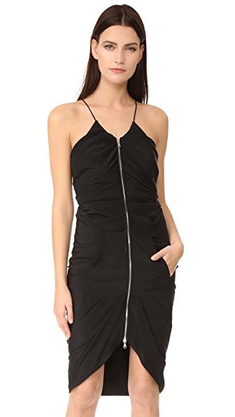 Moschino Zipper Down Dress In Black
