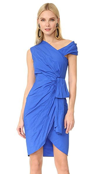 Moschino One Shoulder Dress In Blue