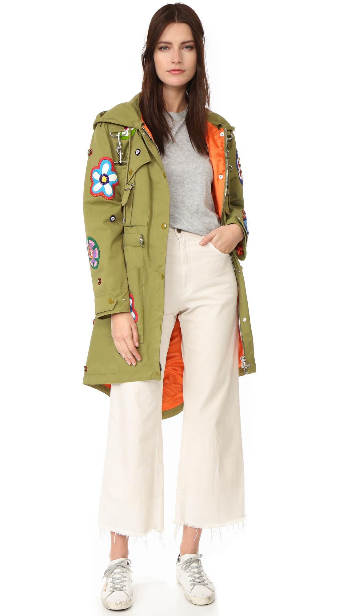 Moschino Long Jacket - Fantasy Print Green at Shopbop