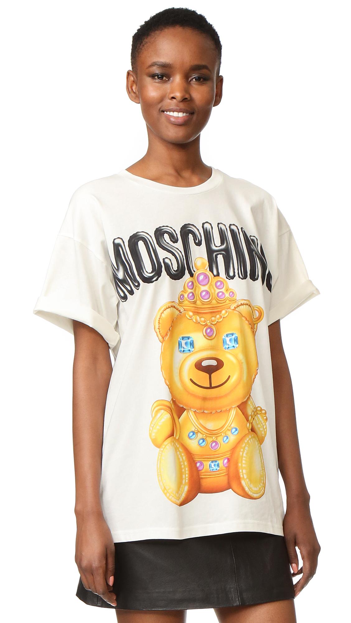 Moschino Printed T-Shirt - White