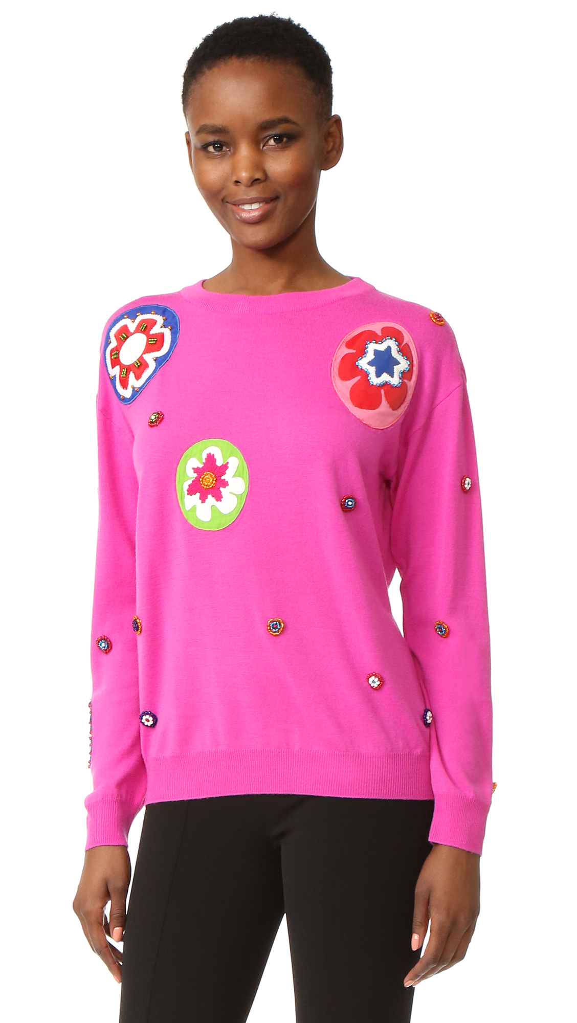 Moschino Long Sleeve Sweater - Violet at Shopbop