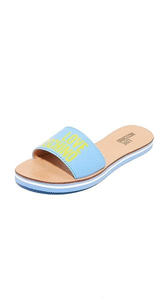 Moschino Love Moschino Sandals - Light Blue