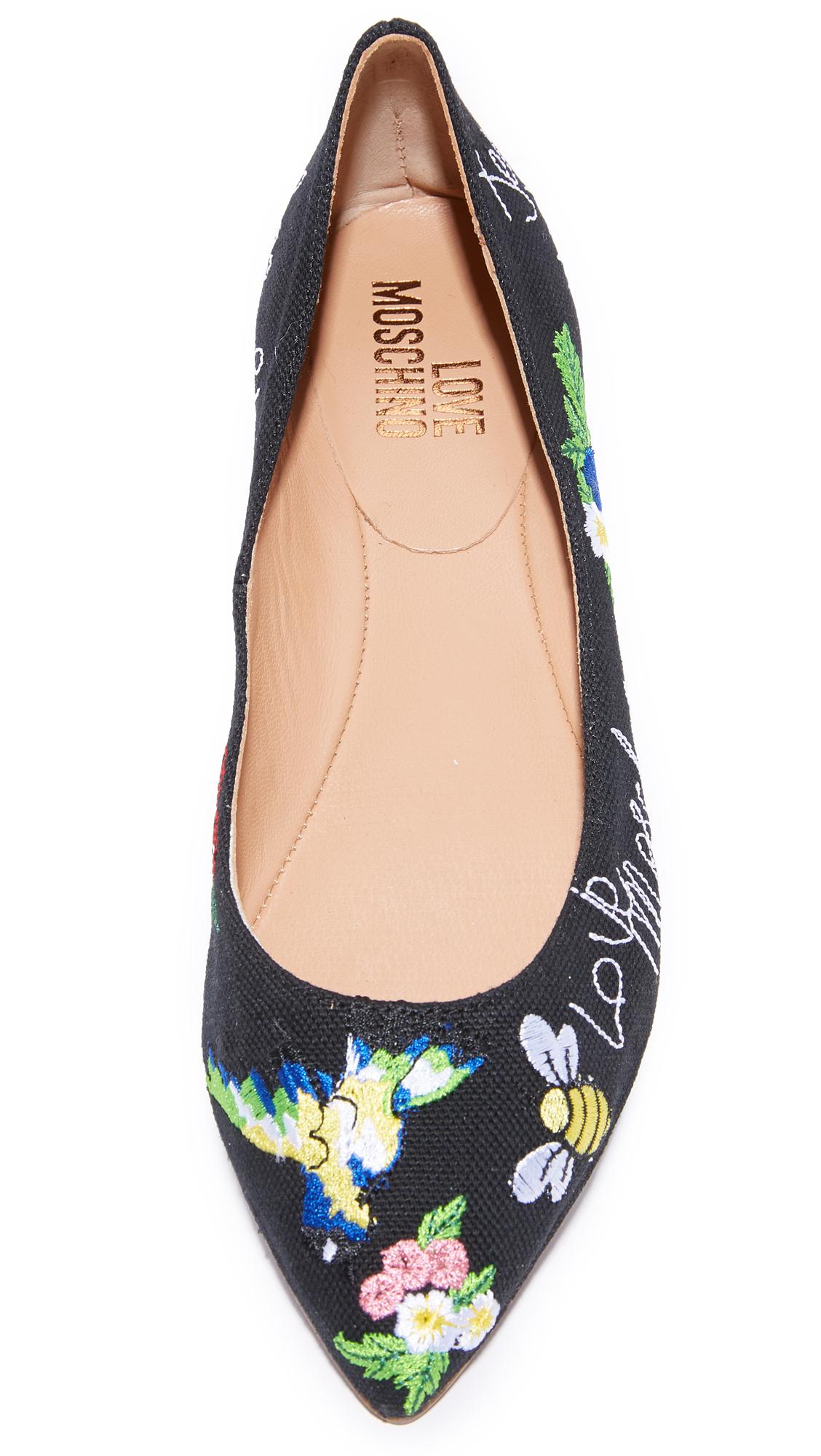 hot product available meet Moschino Love Moschino Ballerina Flats | SHOPBOP