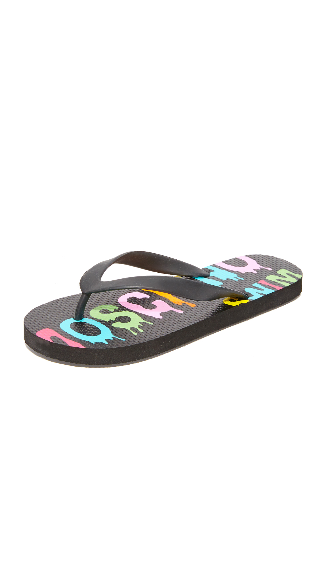 Moschino Moschino Flip Flops - Black at Shopbop