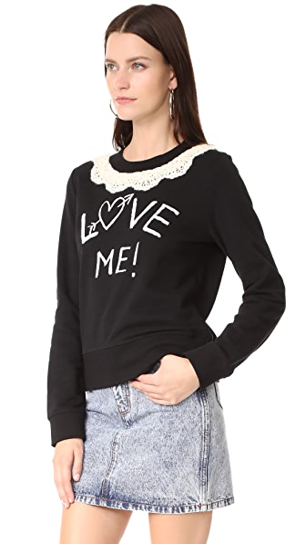moschino love pullover in black modesens. Black Bedroom Furniture Sets. Home Design Ideas