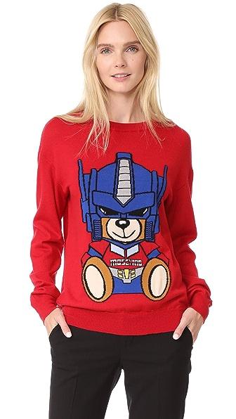Moschino Transformers Bear Sweater