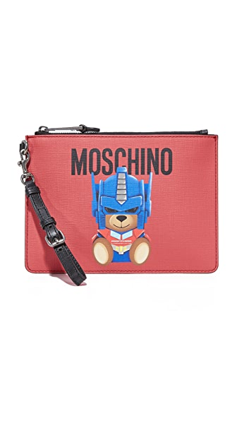 Moschino Wristlet - Red/Black