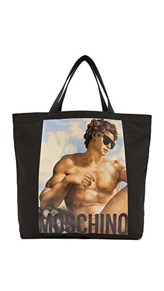 Moschino Fresco Print Tote - Black
