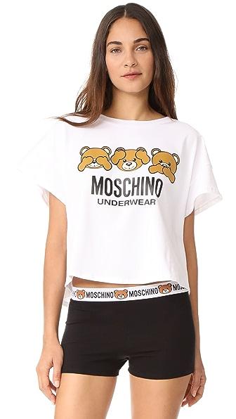 Moschino Short Sleeve T-Shirt - White