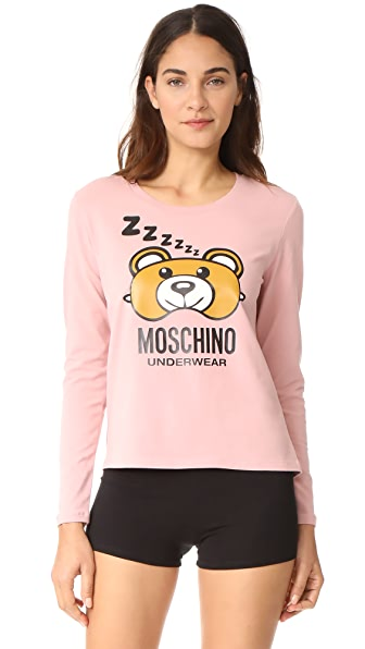 Moschino Long Sleeve T-Shirt - Pink